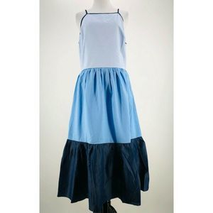 English Factory Blue Colorblock Dress Large NEW
